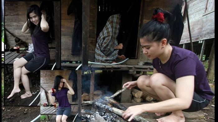 Cantiknya 'Gadis Rimba'! Dengan Gemerlap Jakarta Tapi Tak Melupakan Adat-istiadat di Kalimantan