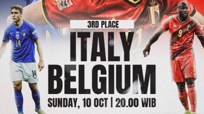 Line Up & Jam Tayang UEFA Nations League 2021 Malam Ini: Italia vs Belgia, Live Streaming Mola TV