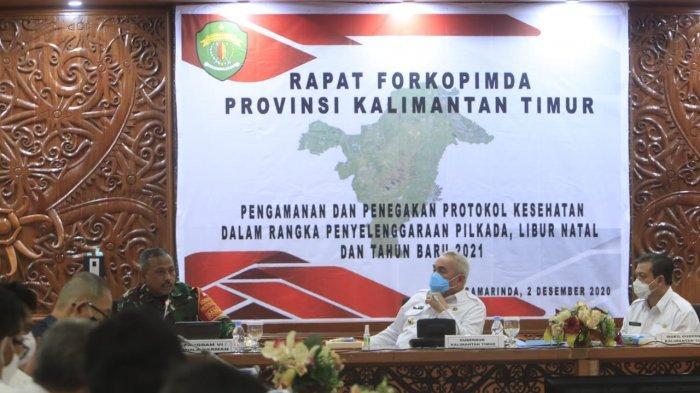 Rakor Forkopimda, Gubernur Kaltim Isran Noor Berpesan: Main Uang Boleh tapi Nanti Dianulir