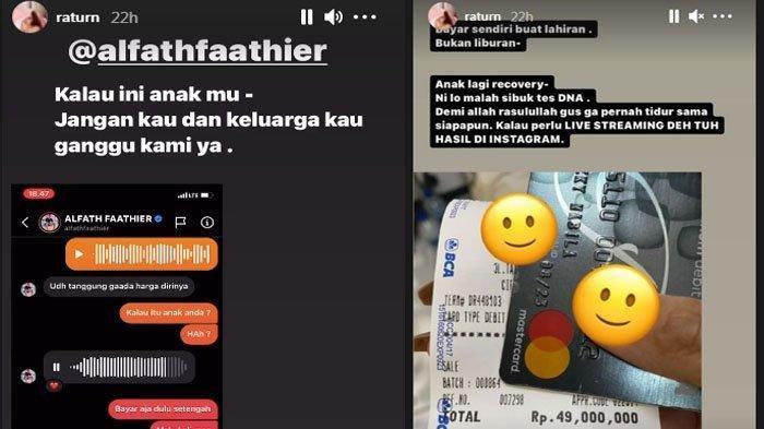 Ratu Rizky Nabila bongkar DM dari Alfath Fathier.