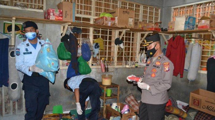Rutan Kelas 2B Tanah Grogot Razia Gabungan Bersama Aparat Penegak Hukum di Kamar Hunian Warga Binaan