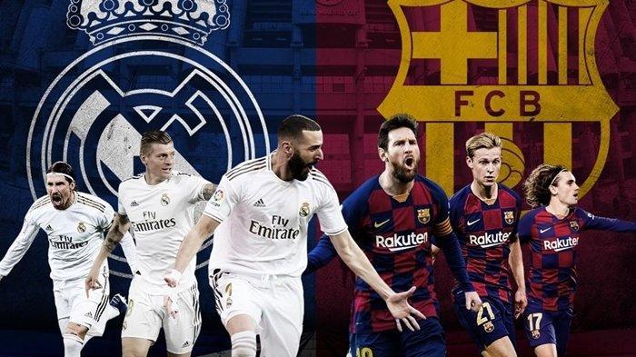 Live Streaming TV Online Real Madrid vs Barcelona, Big Match El Clasico di Vidio.com dan beIN Sports
