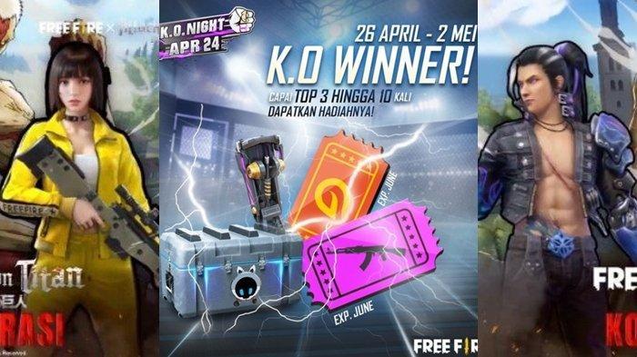 Kode Redeem FF 27 April 2021, Cek Kode Redeem FF yang Belum Digunakan 2021, Mainkan Event KO Winner