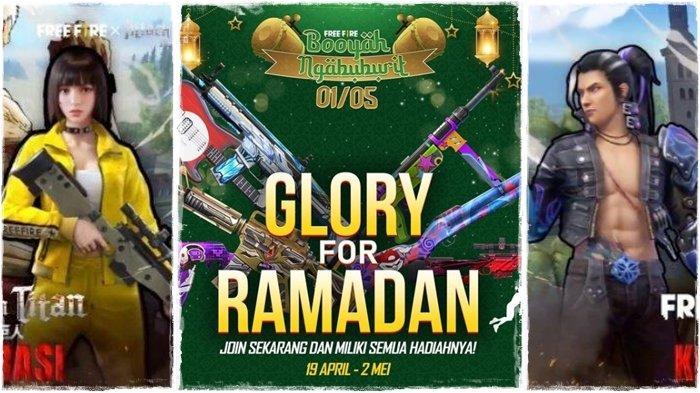 UPDATE Kode Redeem FF 19 April 2021, Join Glory for Ramadan, Dapatkan MP40-New Year & Hadiah Lainnya