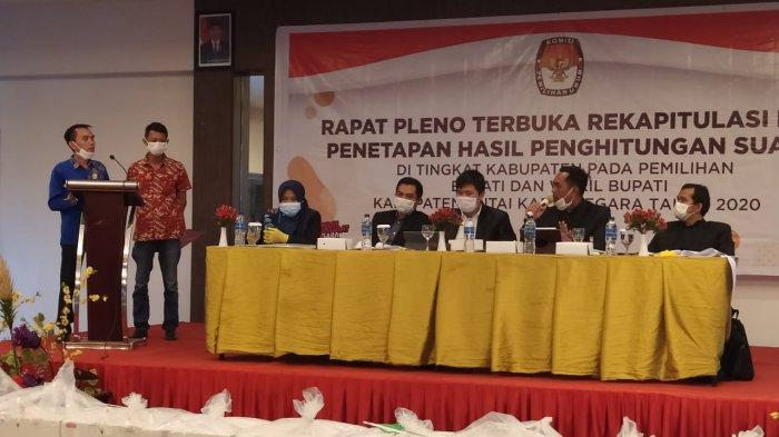 Rampung sudah proses rapat pleno terbuka rekapitulasi dan penetapan penghitungan suara tingkat kabupaten oleh Komisi Pemilihan Umum (KPU) Kutai Kartanegara