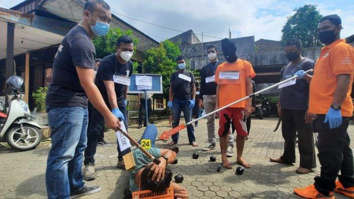 28 Reka Adegan Diperagakan Kedua Pelaku Pengeroyokan di Samarinda, 6 Orang Masih Buron