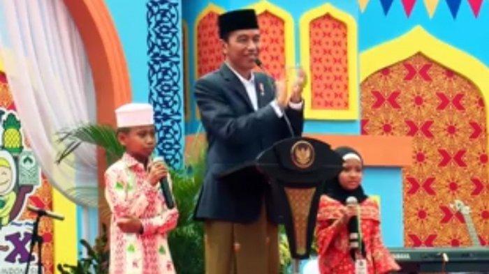 Lucu, Reaksi Bocah yang Dipuji Pintar oleh Presiden Jokowi, Ternyata Ini yang Diharapkannya
