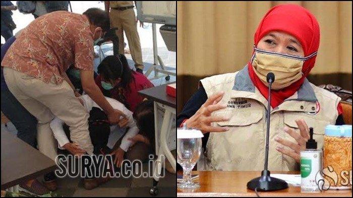 Saat Risma Sujud di Kaki Dokter, Khofifah Jalankan Amanat Jokowi di Surabaya, Tekan Covid-19