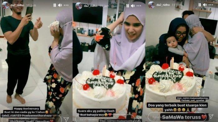 Rizki DA Bikin Kejutan Ulang Tahun Pernikahan, Nadya Mustika Tersipu Malu