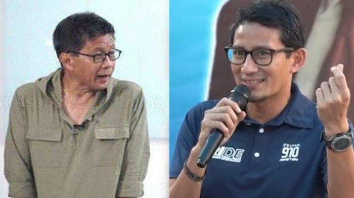Sejak Awal Dipaksakan dengan Prabowo,Rocky Gerung Sebut Sandiaga Sedang Menabung Usai Dikhianati