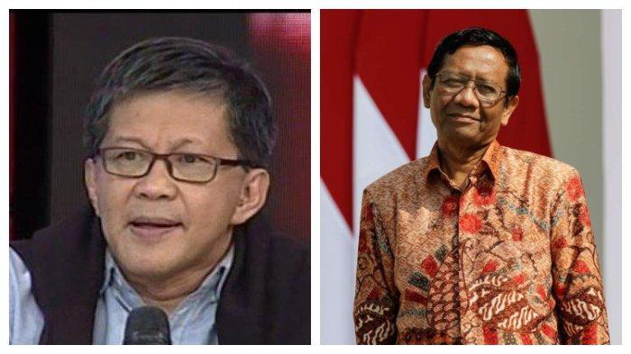 Bicara soal Izin FPI Rocky Gerung Sebut Presiden juga tak Mengerti Pancasila, Lihat Reaksi Mahfud MD
