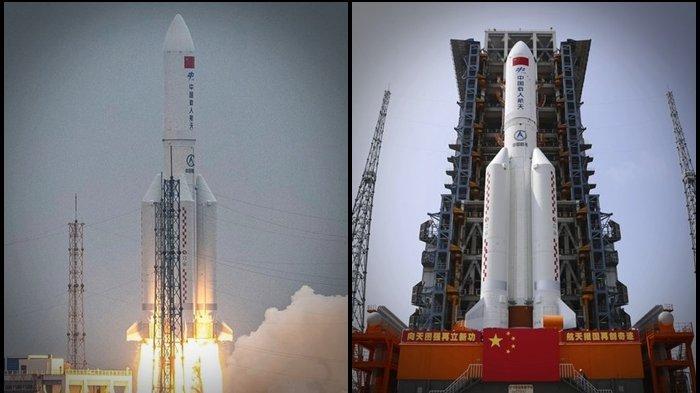 DETIK-DETIK Roket China Long March 5B Jatuh di Samudera Hindia, Dunia Sempat Panik, Respon Amerika?