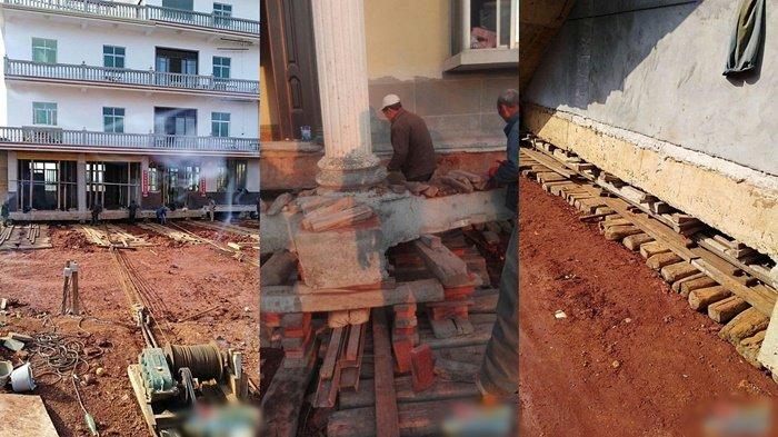 Enggan Direlokasi, Pria Ini Pilih Geser Rumahnya Sejauh 40 Meter Agar Tak Digusur