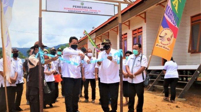 Resmikan Rumah Karantina 32 Kamar, Pemkab Mahulu Kembali Tambah Fasilitas Penanganan Covid-19