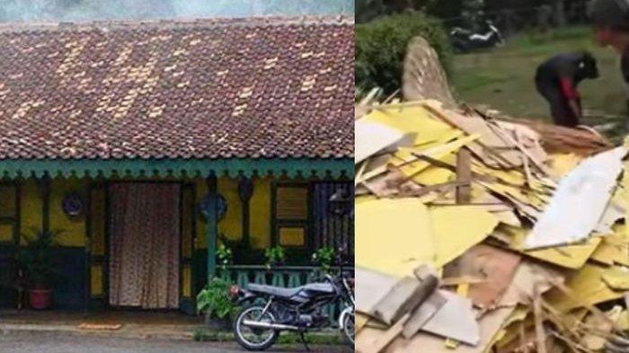 Rumah Si Doel sebelum dan sesudah dirobohkan