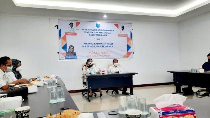 DKISP Paser Silaturahmi dengan Wartawan, Media Massa jadi Corong Informasi Bagi Masyarakat