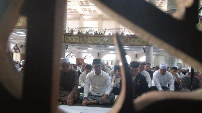 Shalat Ied di Masjid Agung At-Taqwa, Rahmad Masud Paparkan Hasil Perolehan Zakat BAZNAS