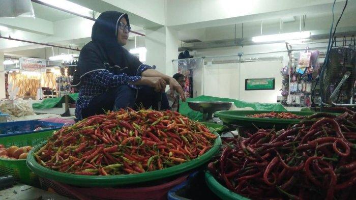 Jelang Akhir Tahun, Harga Cabe di Pasar Tamrin Bontang Makin Mahal Capai Rp 41.000 /Kg