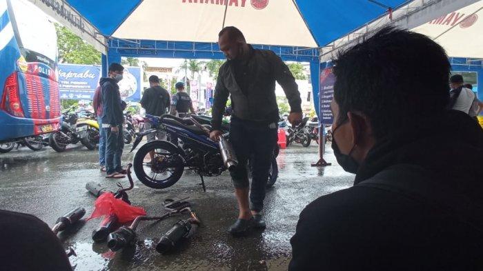 BREAKING NEWS 101 Unit Motor Berknalpot Racing Dirazia, Pemilik Diwajibkan Ganti yang Standar