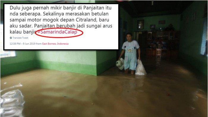#SamarindaCalap Jadi Trending Topic Twitter Indonesia, Warga Pantau Kondisi Banjir di Samarinda