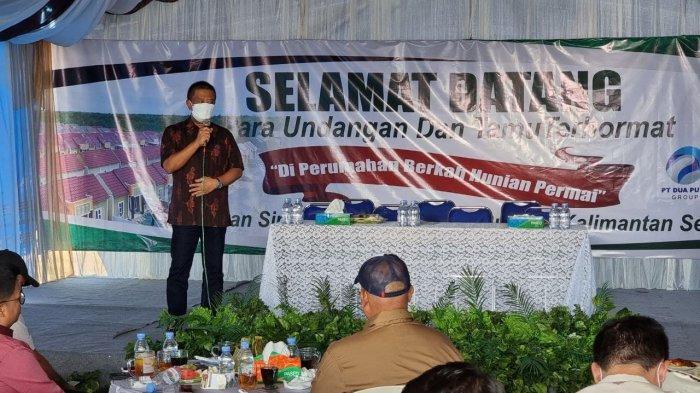 Dirut Bankaltimtara Muhammad Yamin saat menyampaikan sambutan.