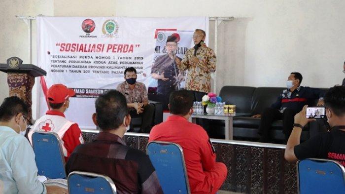 Upaya Optimalkan Penerimaan Pajak, Samsun Sosialisasikan Perda Pajak Daerah di Samboja