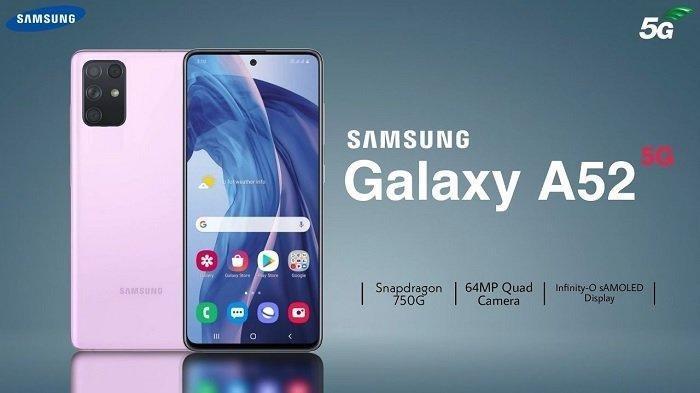 Lengkap Bocoran Spesifikasi dan Harga HP Samsung Galaxy A52s 5G, Layar Super Amoled 6,5 Inci