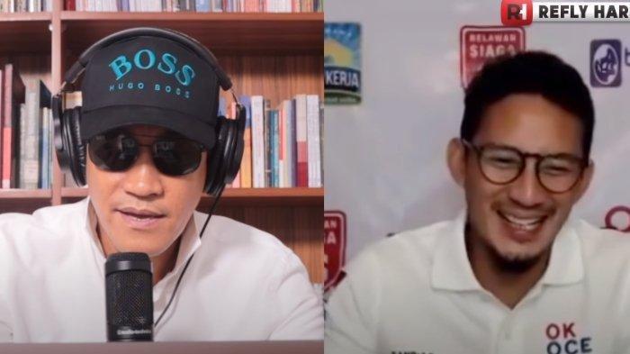 Reaksi Tak Terduga Sandiaga Uno Saat Refly Harun Kritik Pemerintahan Joko Widodo dan Relawan Jokowi