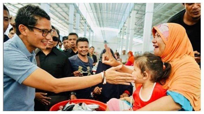 Sandiaga Uno Disambut Pendukung Jokowi di Jembrana, Begini Reaksi Cawapres Nomor 02