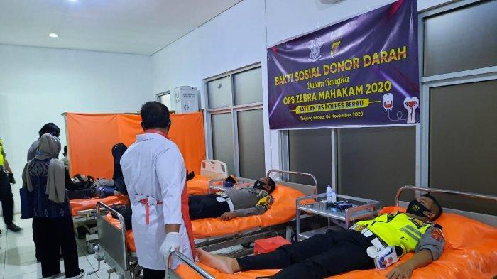 Rangkaian Operasi Zebra Mahakam 2020, Satlantas Polres Berau Gelar Kegiatan Sosial Donor Darah