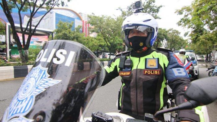 Penegakan Tilang Elektronik, Polresta Balikpapan Kerahkan Polisi Patroli dengan Kamera di Helm