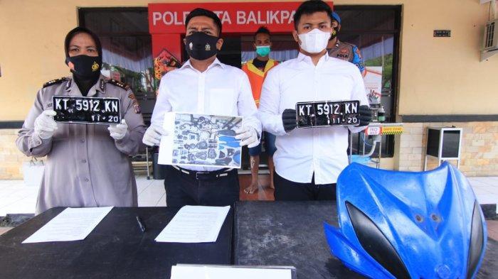 Polisi Tangkap Pelaku Curanmor di Balikpapan, Motor Curian Dipreteli dan Dijual Terpisah