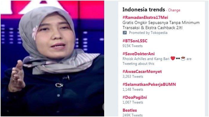 #SaveDokterAni Bergema di Twitter, Buntut Ani Hasibuan Dipanggil Polisi Gegara Tuduhan Ini