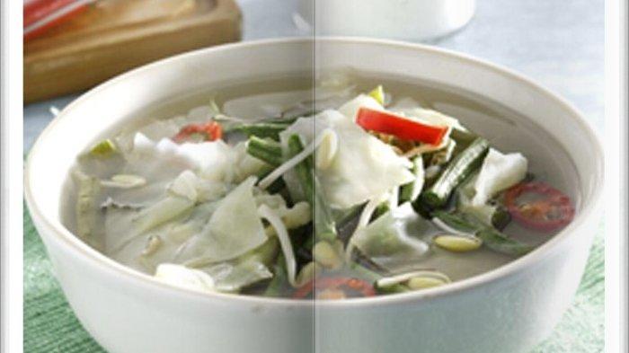 Cara Bikin Sayur Bening Kacang Panjang Kol Super Enak, Menu Pelengkap Makan Siang