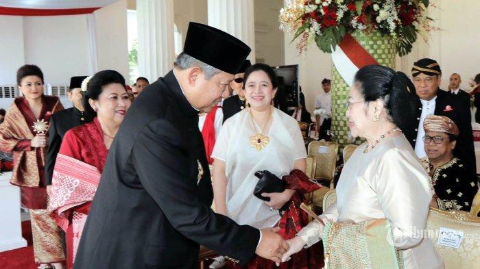 Akhirnya. . . Megawati dan SBY Salaman di Istana, Ini Kata Politikus PKS