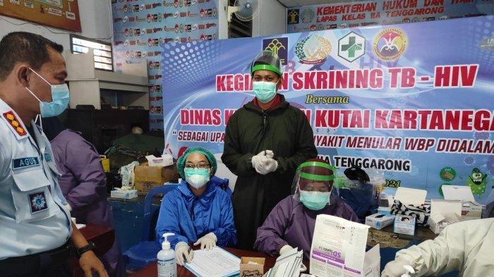 Cegah Penyakit Menular di Lapas Tenggarong, Warga Binaan Ikut Screening Metede Tes Cepat HIV