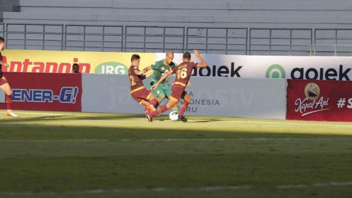 Persebaya vs PSM Makassar Liga 1 di Stadion Batakan Balikpapan, Hasil Babak Pertama Skor Imbang 1-1