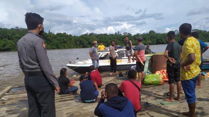 Tabrak Batang, Speedboat Tenggelam di Sungai Kampung Ujoh Bilang Mahakam Ulu