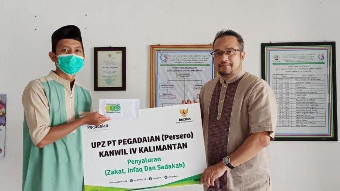 Akhir Ramadan 1442 H, Karyawan Pegadaian Kalimantan Salurkan Zakat Rp 40 Juta