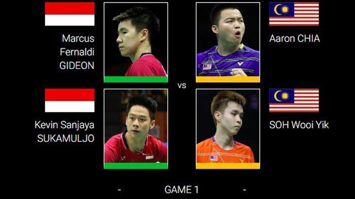 SEDANG BERLANGSUNG Indonesia Masters 2020 Live di TVRI, Marcus/Kevin vs Malaysia Rebut Tiket Final