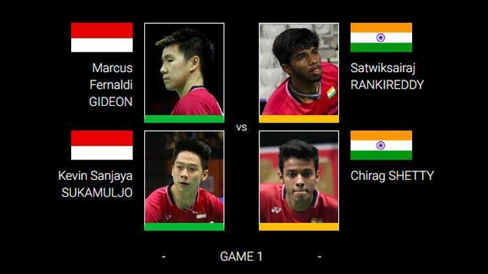 SEDANG BERLANGSUNG Live Streaming Fuzhou China Open 2019 di TVRI, Marcus/Kevin vs Wakil India