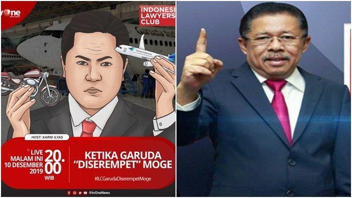 SEDANG BERLANGSUNG Live Streaming ILC TV One 'Ketika Garuda Diserempet Moge', Ari Askhara Hadir?