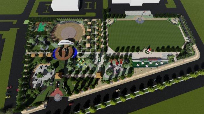 Pembangunan Taman Depan Kantor Bupati Penajam Paser Utara Dianggap Prioritas