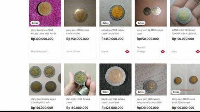 Uang Koin Rp 1000 Kelapa Sawit Dijual Rp 300 Juta, Apakah Masih Berlaku Sebagai Alat Bayar yang Sah?