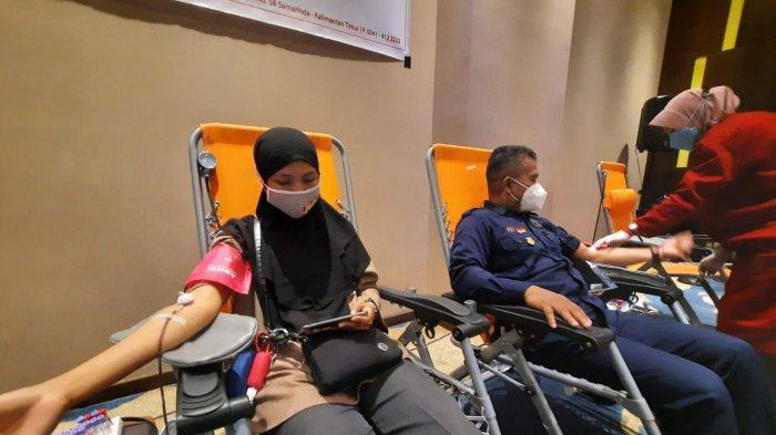 Seorang Peserta di Samarinda Akui Sudah Ikuti Donor Darah Sejak Tahun 1993