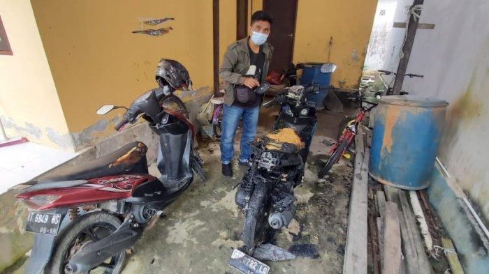 Tiga Motor Terbakar di Balikpapan, Pemilik Akui Sempat Melihat Terduga Pelaku di Depan Rumahnya