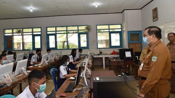 Siswa SMP di Kutai Barat Ikut Simulasi ANBK