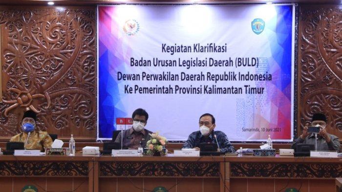 BLUD DPD RI Kunker ke Pemprov Kaltim,Lihat Dampak Langsung Pelaksanaan UU Cipta Kerja di Daerah