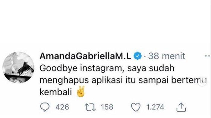 Cuitan Amanda Manopo ucapkan selamat tinggal