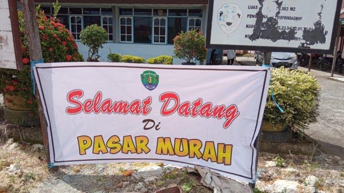 Pasar Murah digelar Disperindagkop Bulungan di Halaman Belakang Kantor Disperindagkop Jalan Sekip, Tanjung Selor. TRIBUNKALTARA.COM / MAULANA ILHAMI FAWDI